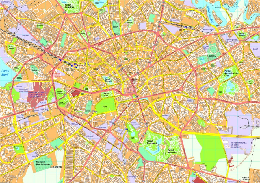 Bucharest map