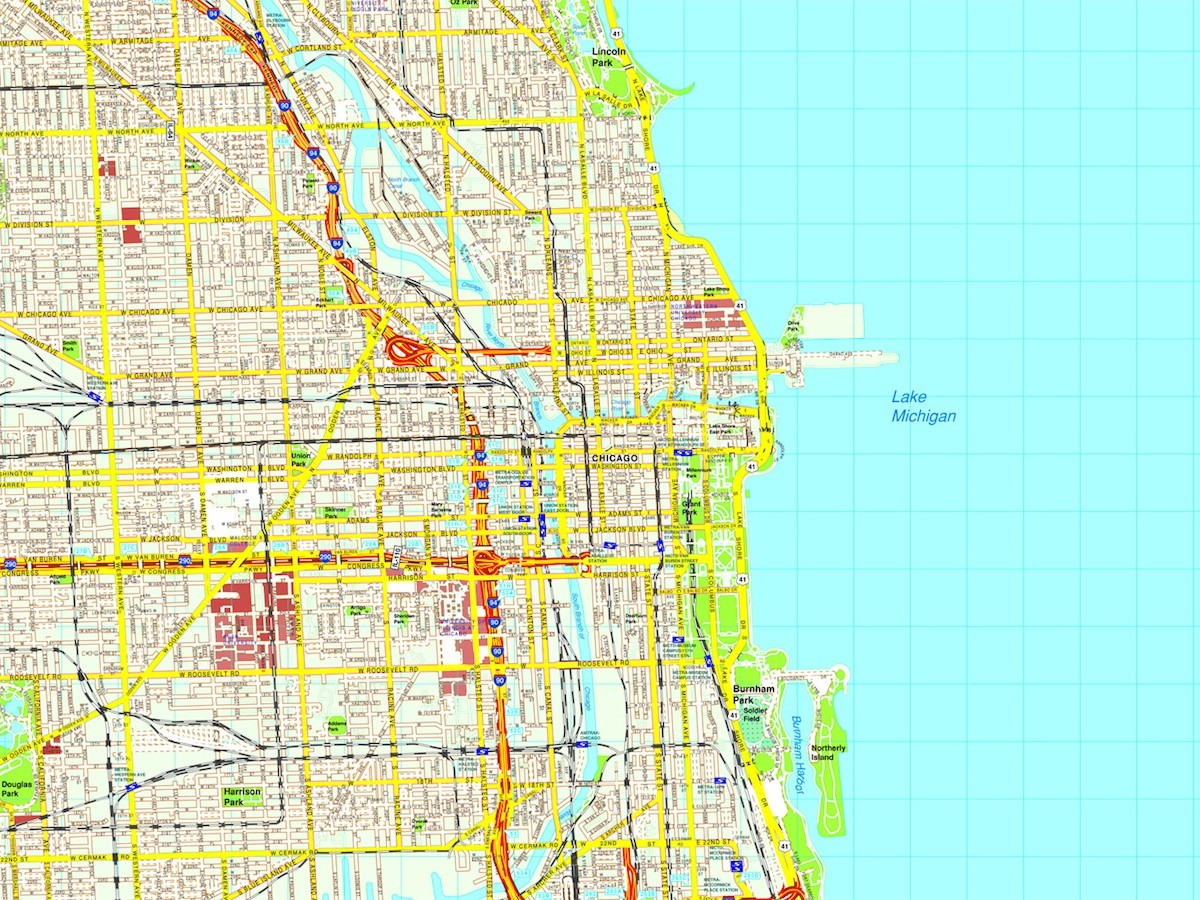 Map Of America Showing Chicago.Chicago Map