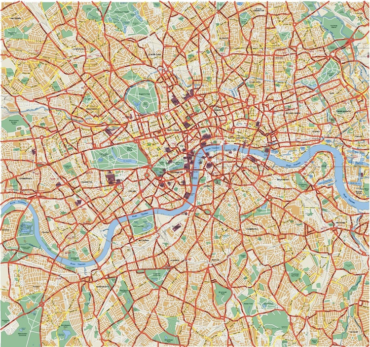 London Vector Map London Eps Illustrator Vector Maps Order And