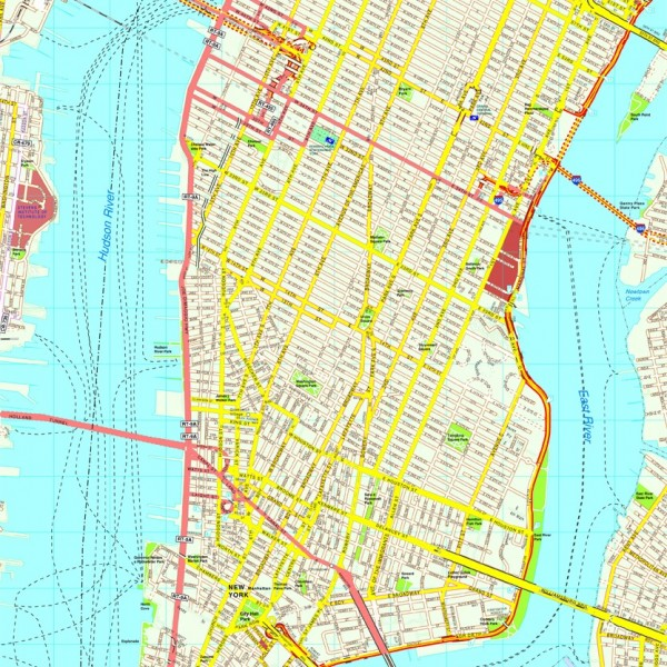New York Manhattan map