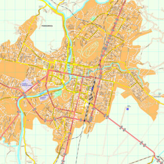 Podgorica map