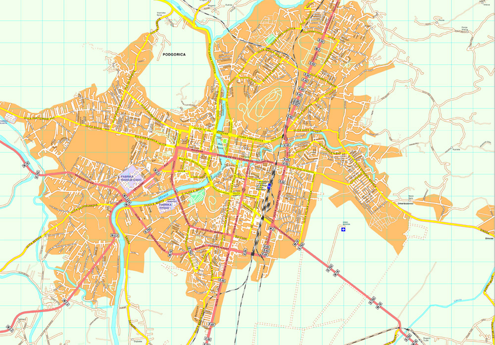 Podgorica Vector Map Order And Download Podgorica Vector Map - Podgorica map
