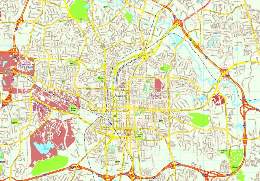 Raleigh map