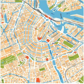 amsterdam vector map