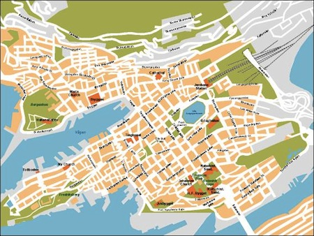Bergen Vector map Order and Download Bergen Vector map made for
