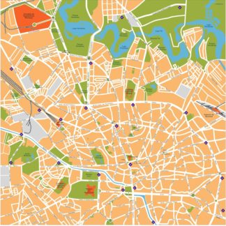 bucharest vector map