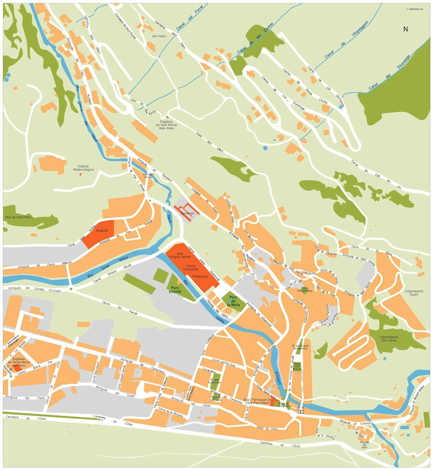 escaldes vector map