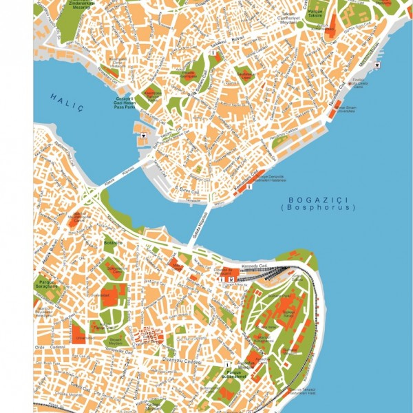 istanbul vector map