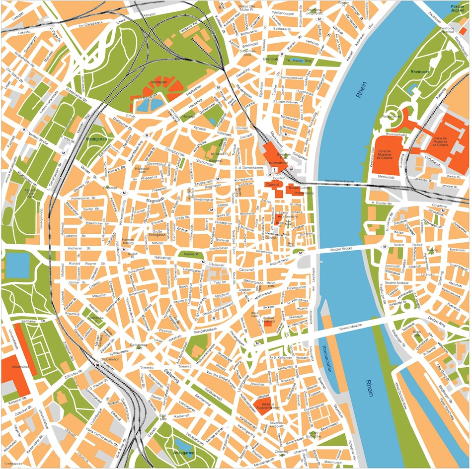 Koln vector map Order and Download Koln vector map made for our