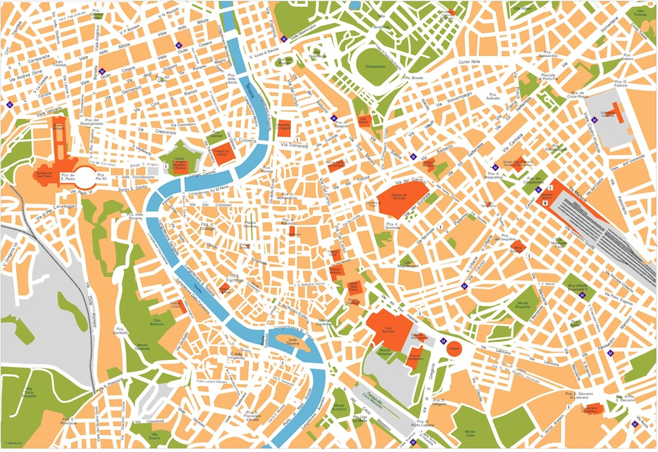 Rome City Map Of Area Map Of Milazzo Map Of Varese Map Of