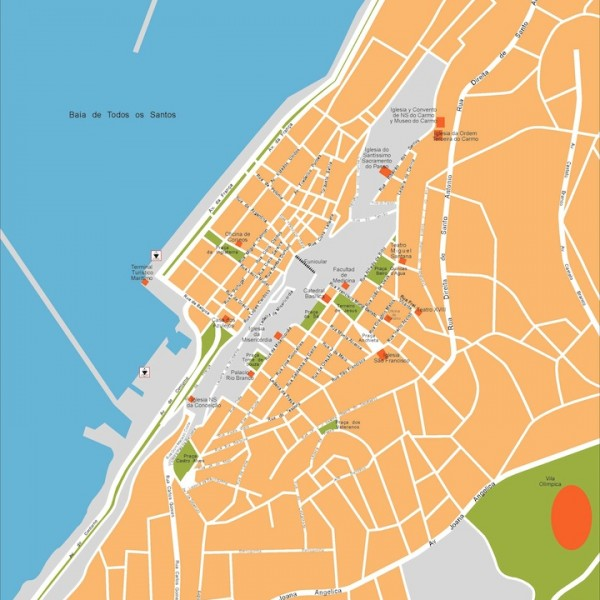salvador bahia vector map