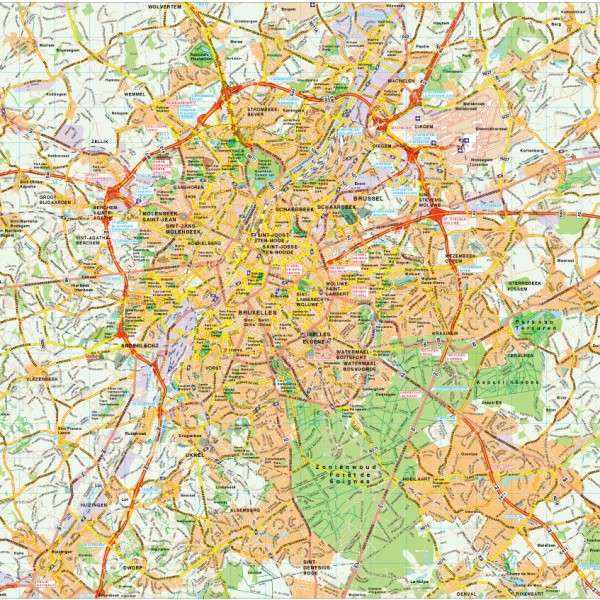 Brussels map vector
