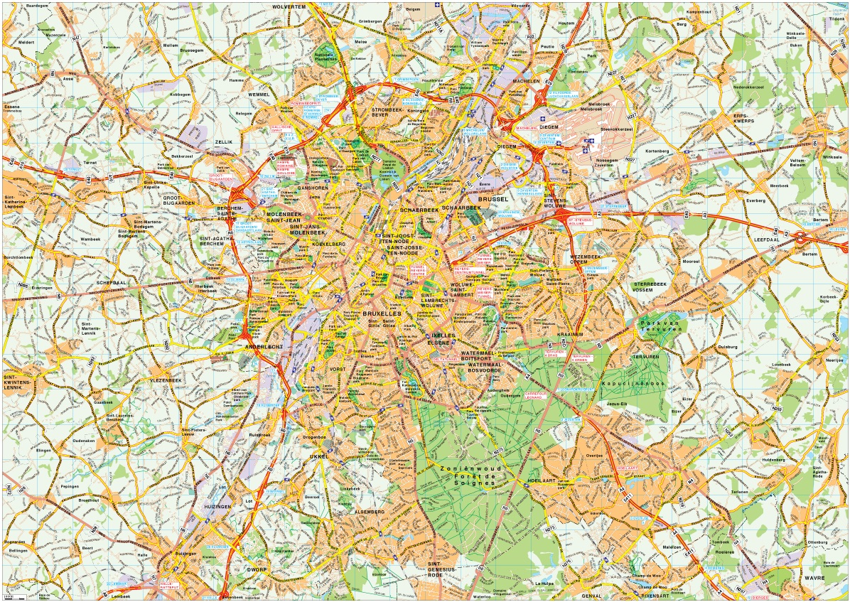 Brussels map vector | Order and download Brussels map vector