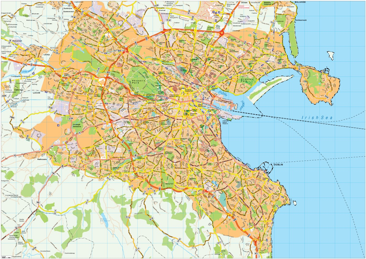City Map Of Dublin Ireland.Dublin Map Vector