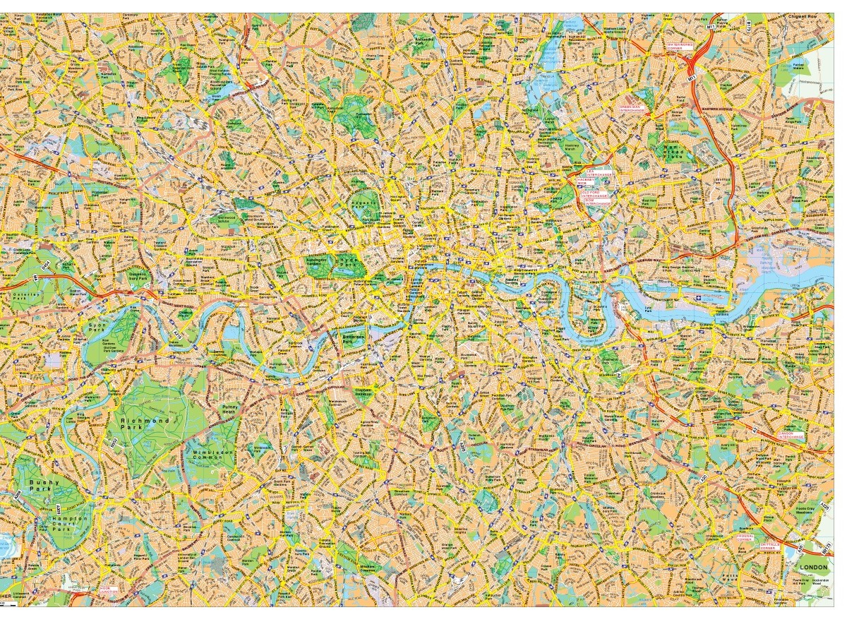 London Free Map.London Map Vector