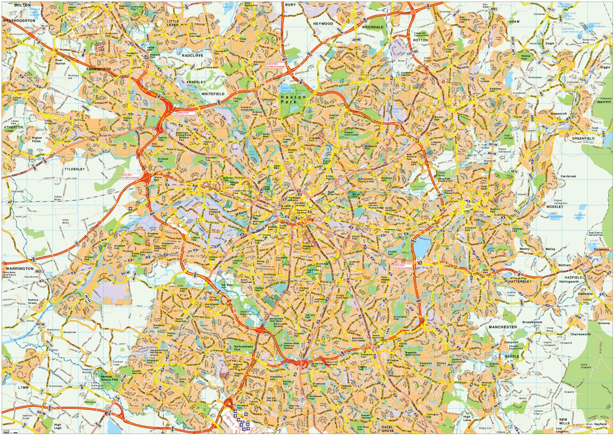 Manchester Map Vector  Illustrator EPS City Amp Country Maps