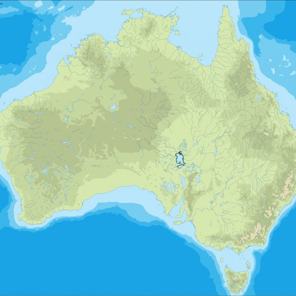 australia illustrator map