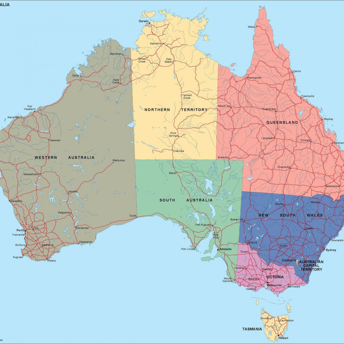 Australia Map Political.Australia Political Map Order And Download Australia Political Map