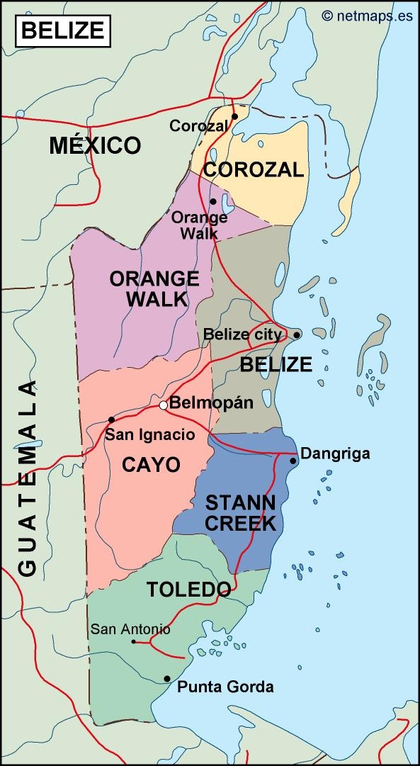 Belize Political Map.Belize Political Map Order And Download Belize Political Map