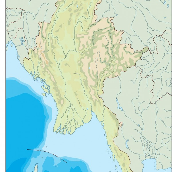 burma illustrator map