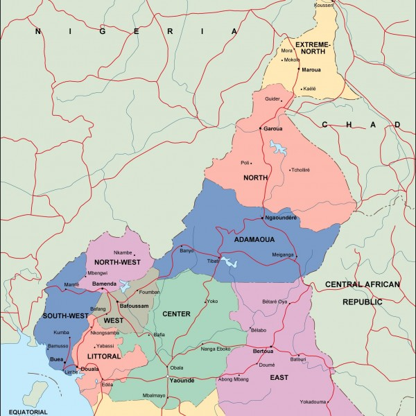cameroon political map
