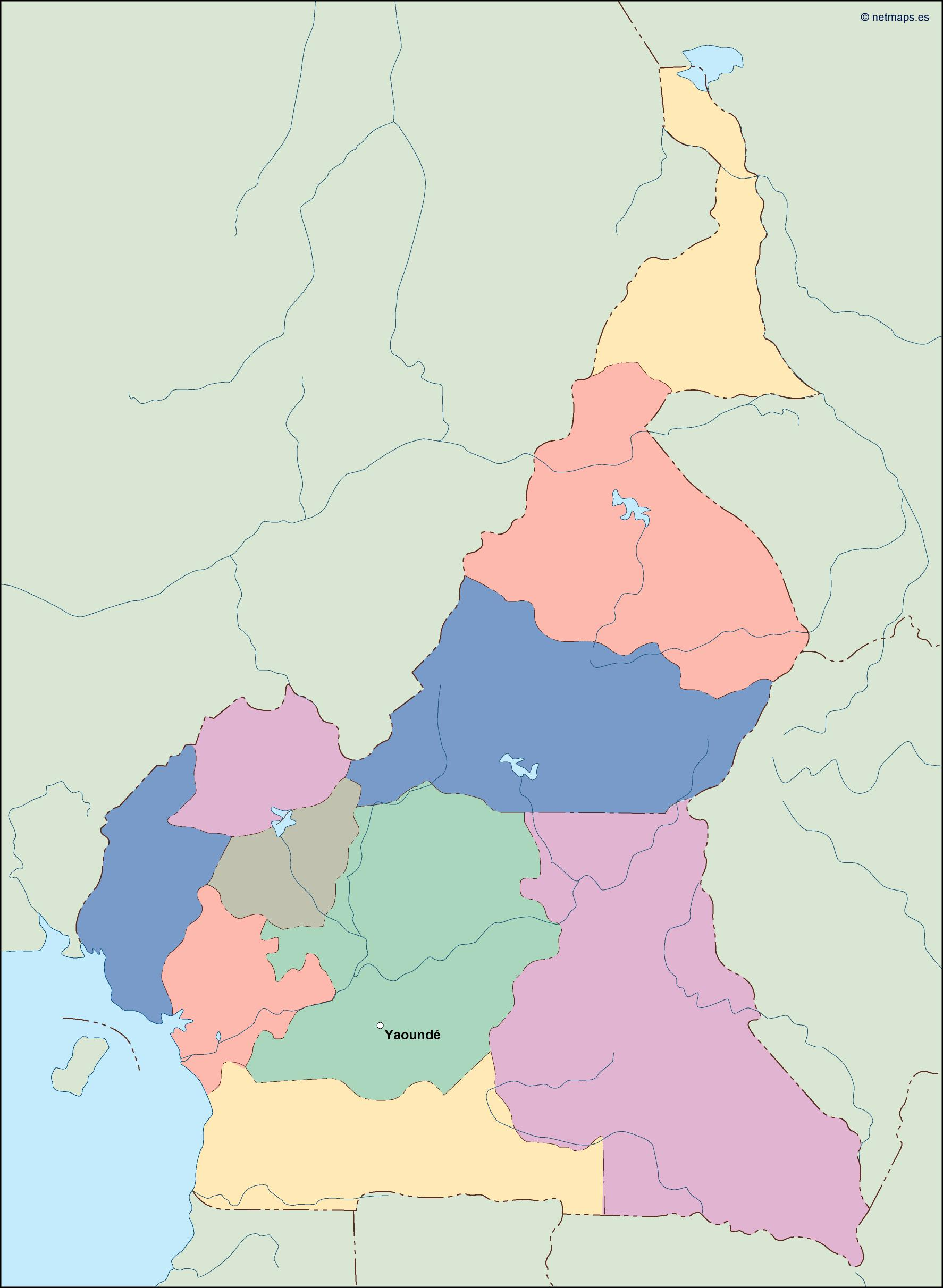 on cameroon map