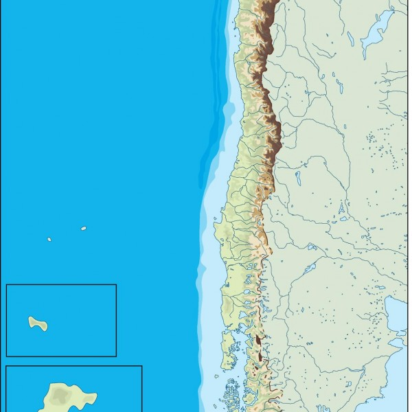 chile illustrator map