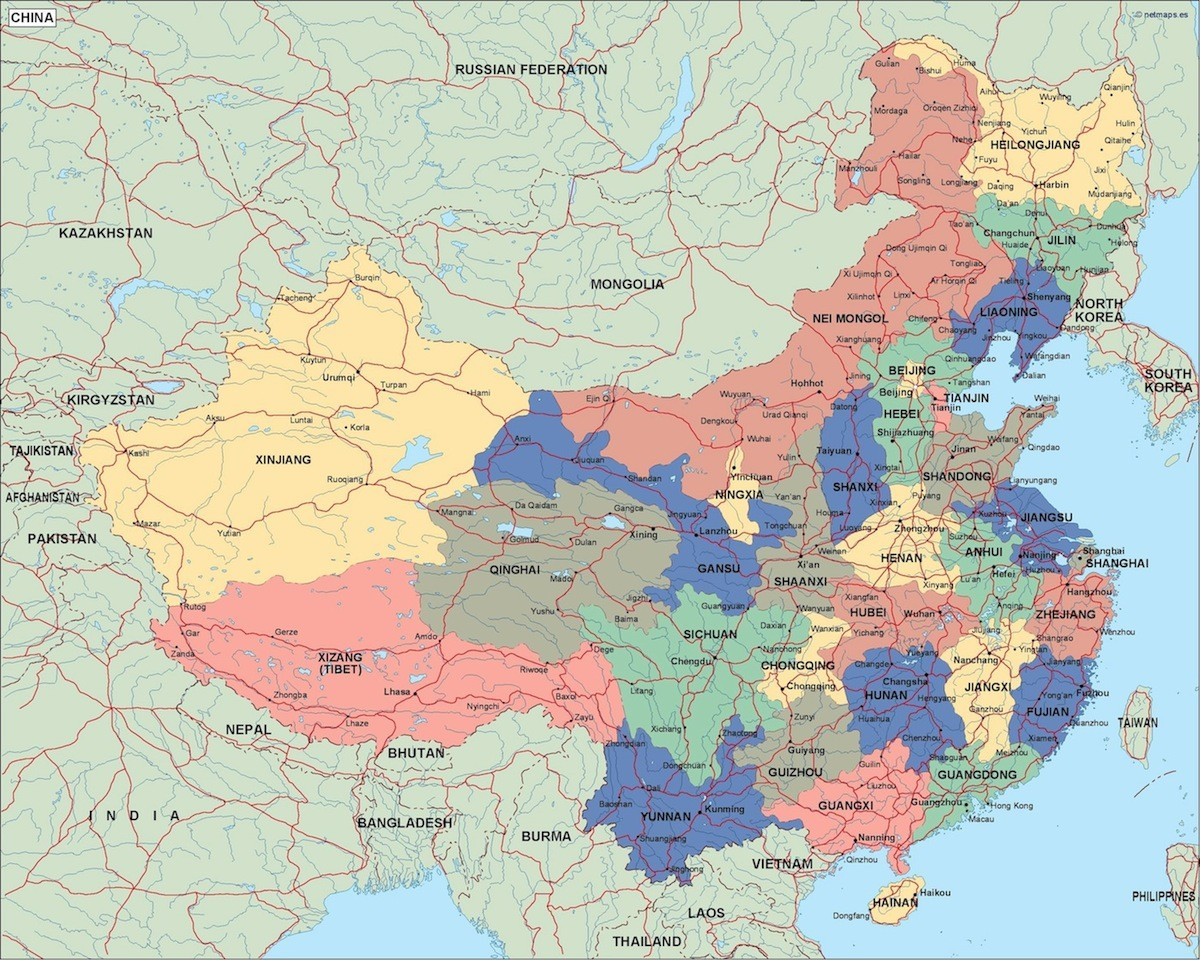 China Political Map Order And Download China Political Map