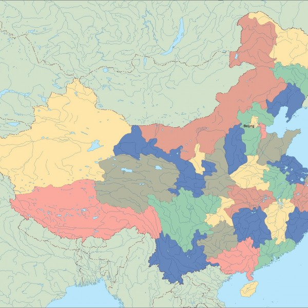 china vector map