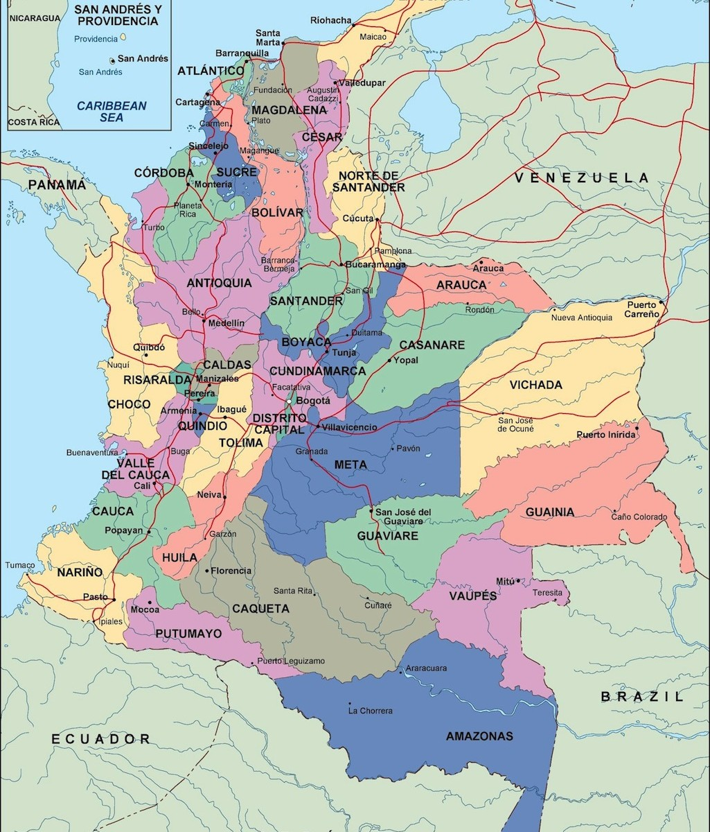 colombia political map | Order and download colombia political map