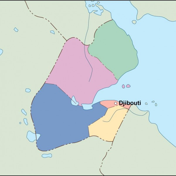 djibouti vector map