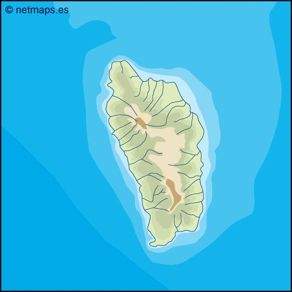 dominica illustrator map