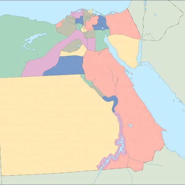 egypt blind map