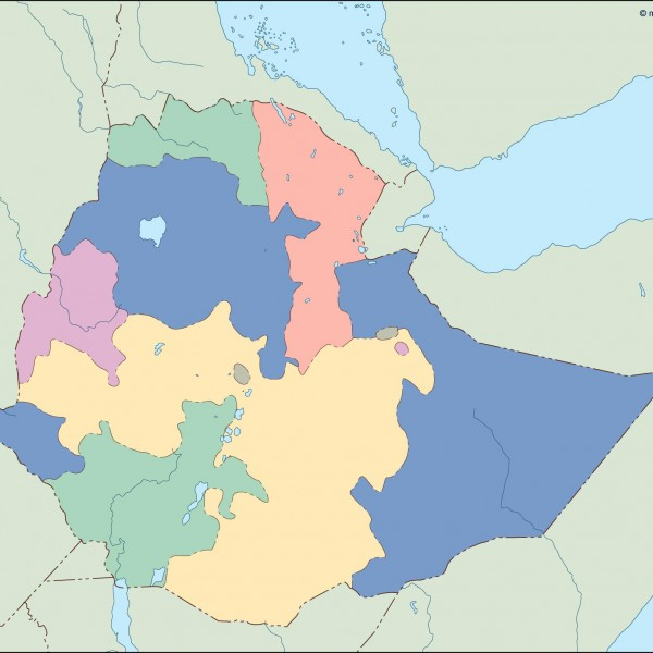 ethiopia blind map