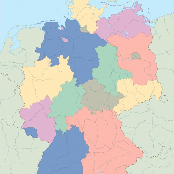 Vector Maps Cartographers From Barcelona Vector Maps - Germany map eps
