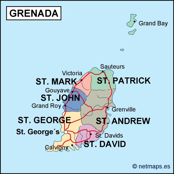 Grenada Vector EPS Maps Download Our Grenada Vector EPS Maps For - Grenada map download
