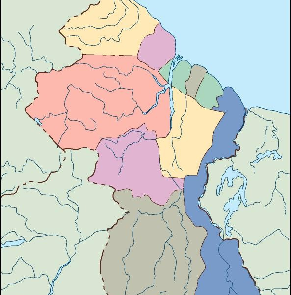 guyana blind map