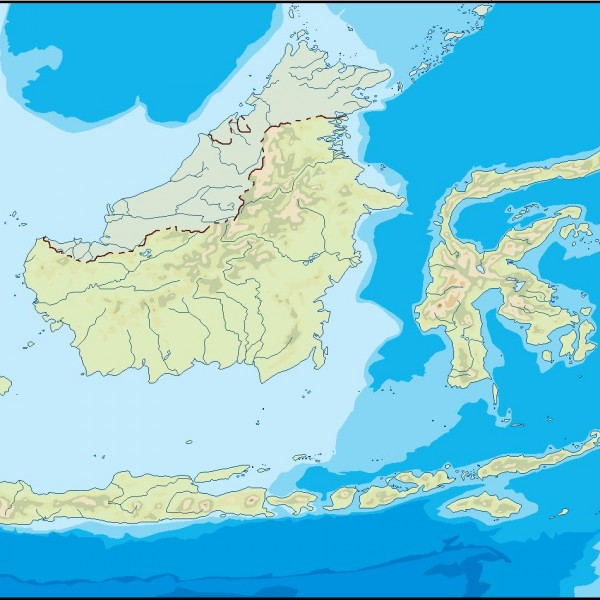 indonesia illustrator map