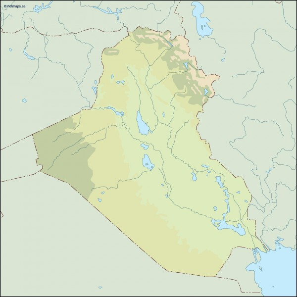 iraq illustrator map