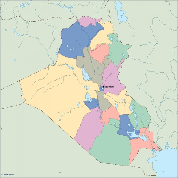 iraq vector map