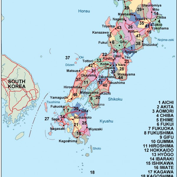 Japan Vector EPS Maps Download Our Japan Vector EPS Maps For - Japan map 6