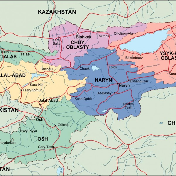 kirgizistan political map