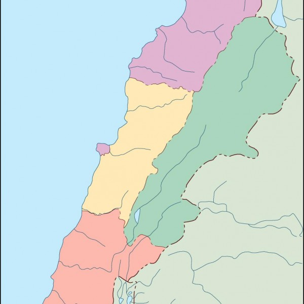 lebanon blind map