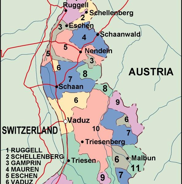 liechtenstein political map