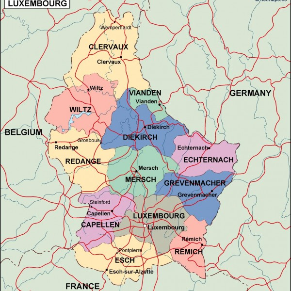 luxembourg political map