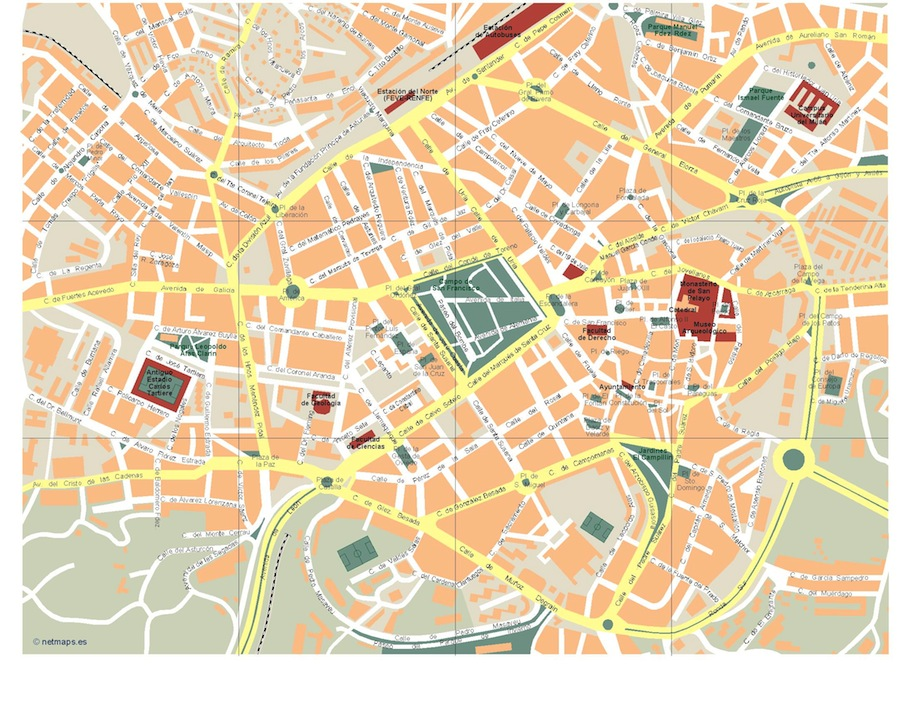 Oviedo Vector map Order and Download Oviedo Vector map made for