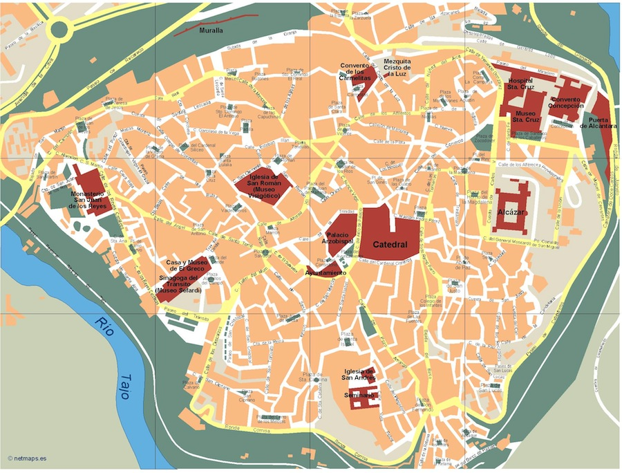 Toledo Vector map Order and Download Toledo Vector map made for