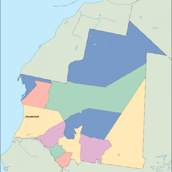 mauritania vector map
