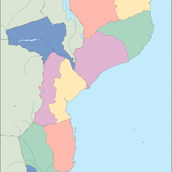 mozambique vector map