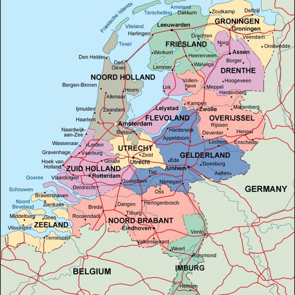 Netherlands Vector EPS maps  Download our Netherlands Vector EPS